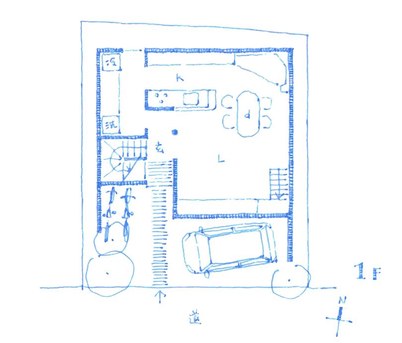 20160426 西灘の家 1F平面図web