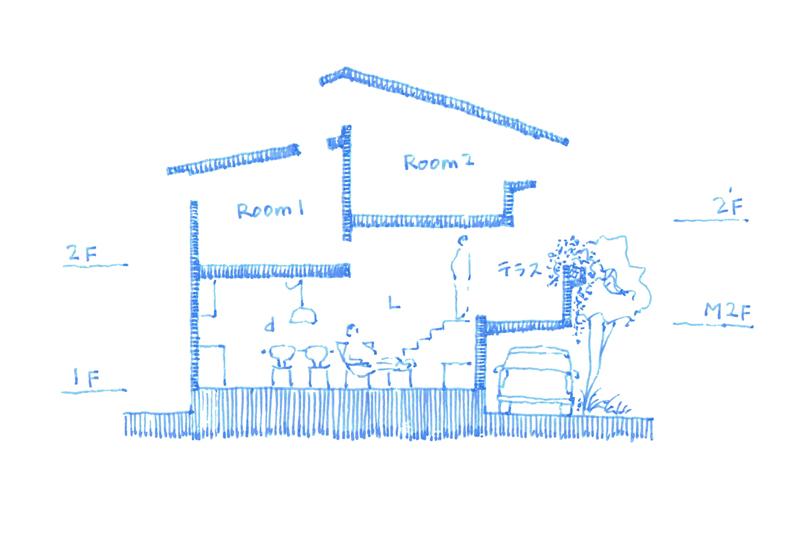 20160426 西灘の家 断面図 web